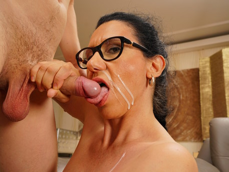 Hairy mature slut getting fucked by her toy boy