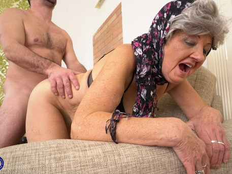 Grandma loves fucking her way younger lover